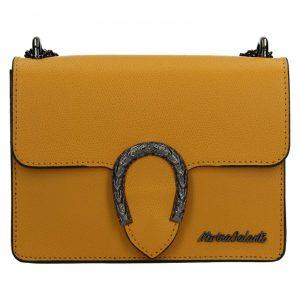Dámská kožená crossbody kabelka Marina Galanti Arianne – žlutá