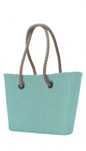 O bag kabelka URBAN MINI Turchese s dlouhými provazy natural