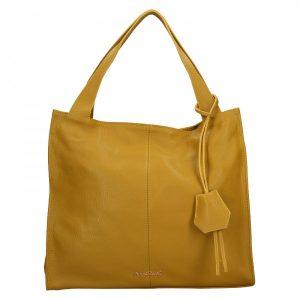 Dámská kožená kabelka Marina Galanti Apolene – žlutá