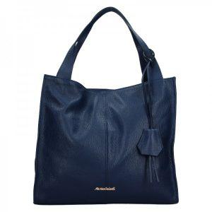 Dámská kožená kabelka Marina Galanti Apolene – modrá