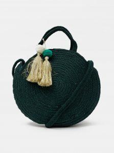 Tmavě zelená kabelka Pieces Nilo