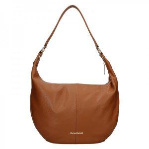 Dámská kožená kabelka Marina Galanti Simonia – hnědá
