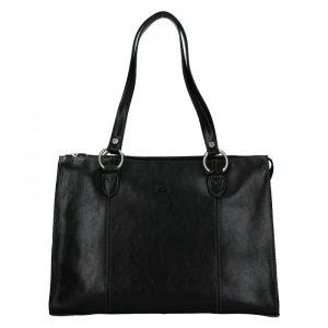 Elegantní dámská kožená kabelka Katana Jarusk – černá