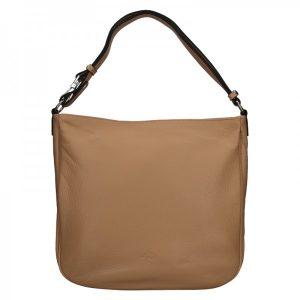 Elegantní dámská kožená kabelka Katana Jindra – tmavě béžová