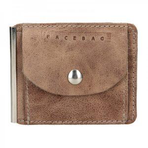 Pánská kožená dolarovka Facebag – hnedá