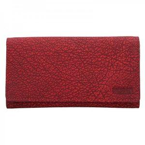 Dámská kožená peněženka Lagen Lussy – červená