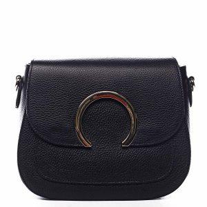 Dámská kožená crossbody kabelka černá – ItalY Pretty černá