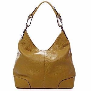 Dámská kožená kabelka žlutá – ItalY Inpelle žlutá