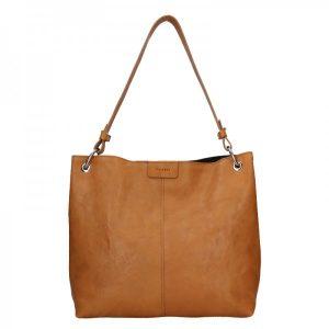 Dámská kožená kabelka Facebag Lilles – hnědá