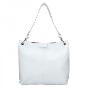 Dámská kožená kabelka Facebag Lilles – bílá