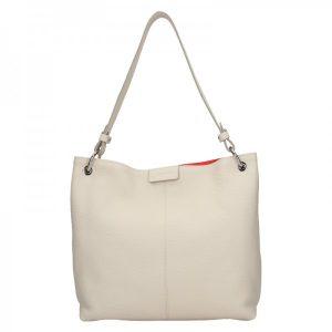 Dámská kožená kabelka Facebag Lilles – béžová