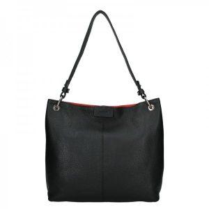 Dámská kožená kabelka Facebag Lilles – černá