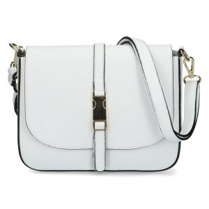 Dámská kožená crossbody kabelka bílá – ItalY Neul bílá