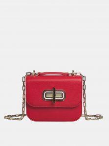 Červená kožená crossbody kabelka Tommy Hilfiger