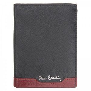 Pánská kožená peněženka Pierre Cardin Joe – černo-červená
