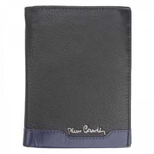 Pánská kožená peněženka Pierre Cardin Joe – černo-modrá