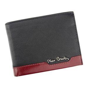 Pánská kožená peněženka Pierre Cardin Jack – černo-červená
