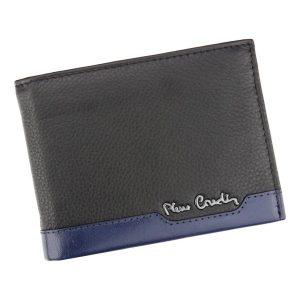 Pánská kožená peněženka Pierre Cardin Jack – černo-modrá