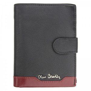 Pánská kožená peněženka Pierre Cardin Peter – černo-červená