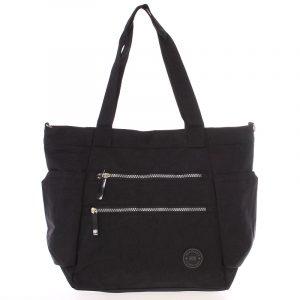 Moderní látková sportovní černá taška – New Rebels Brielle černá
