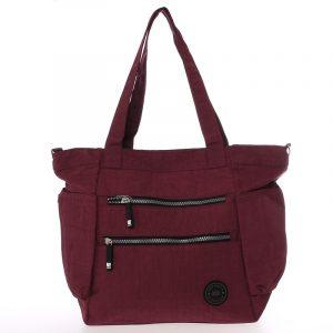 Moderní látková sportovní červená taška – New Rebels Brielle červená