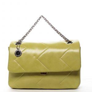 Dámská kabelka přes rameno žlutá – DIANA & CO Threethre žlutá