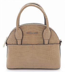 Malá kufříková kabelka v béžové barvě