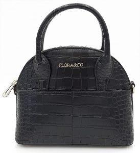 Malá kufříková kabelka v černé barvě