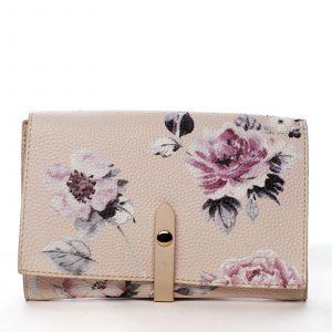 Dámské květované psaníčko pudrové – DIANA & CO Flouw pudrová
