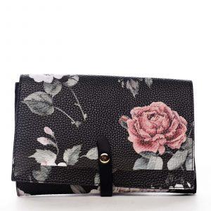 Dámské květované psaníčko černé – DIANA & CO Flouw černá