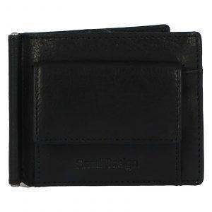 Pánská kožená dolarovka černá – SendiDesign Rtex Dark černá