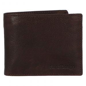 Pánská kožená peněženka hnědá – SendiDesign Boster hnědá