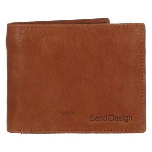 Pánská kožená peněženka světle hnědá – SendiDesign Boster hnědá