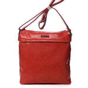 Dámská crossbody kabelky červená – Silvia Rosa Dingeka Snake červená