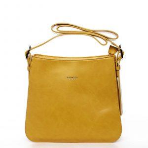 Dámská kabelka přes rameno žlutá – DIANA & CO Jiansis žlutá