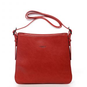 Dámská kabelka přes rameno červená – DIANA & CO Jiansis červená