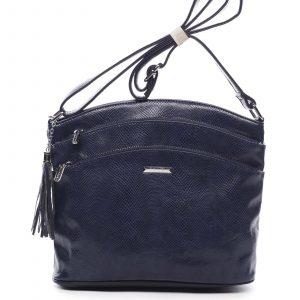 Dámská crossbody kabelka tmavě modrá – Silvia Rosa Billie Snake tmavě modrá