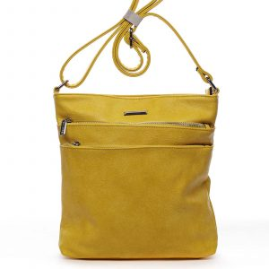 Dámská crossbody kabelka žlutá – Silvia Rosa Girly žlutá