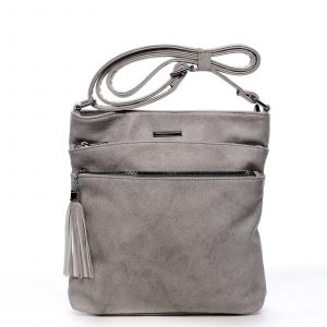 Dámská crossbody kabelka světle šedá – Silvia Rosa Girly šedá