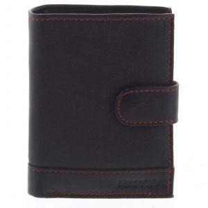 Pánská kožená peněženka černo červená – Bellugio Garner černá