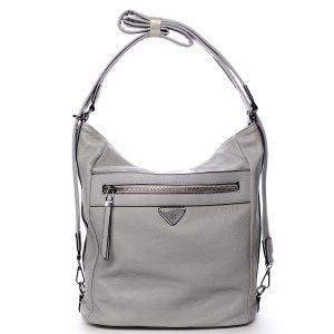 Dámská kabelka batoh světle šedá – Romina Tonandis šedá
