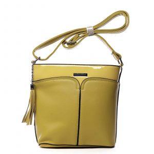 Dámská crossbody kabelka žlutá – Silvia Rosa Enegmi žlutá