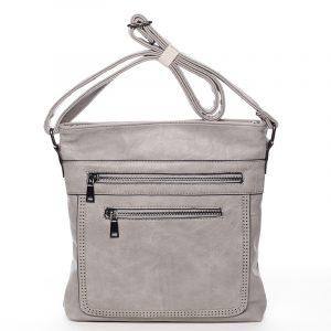 Moderní střední crossbody kabelka šedá – Delami Karlie šedá