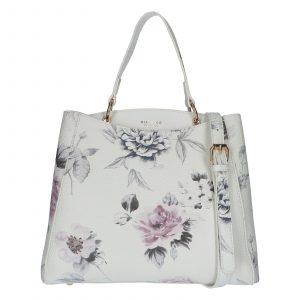 Dámská kabelka přes rameno bílá – DIANA & CO Florentina bílá