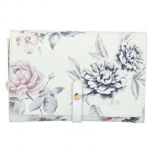 Dámské květované psaníčko bílé – DIANA & CO Flouw bílá
