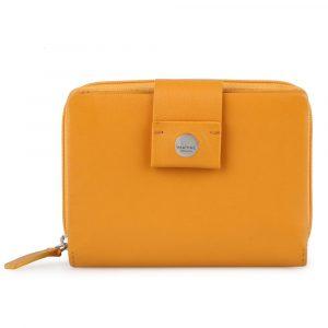 Maître Dámská kožená peněženka Henau Diethilde 4060001632 – tmavě žlutá