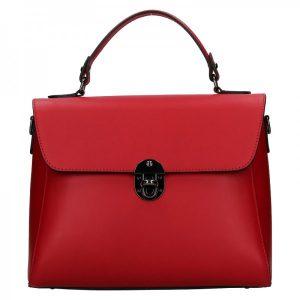 Dámská kožená kabelka Vera Pelle Luccy – červená