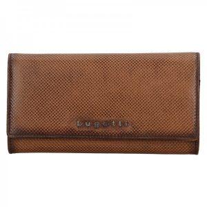 Dámská kožená peněženka Bugatti Fiona – hnědá