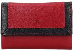 Lagen Dámská kožená peněženka BLC-4390 Red/BLK