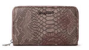 Desigual hnědá peněženka Mone Criseida Mini Zip